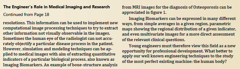 Engineer's role in medical imaging and bioengineering 2